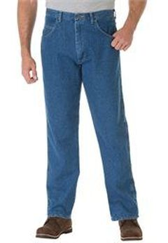 Regular Fit Stretch Denim by Wrangler®, STONEWASH, hi-res