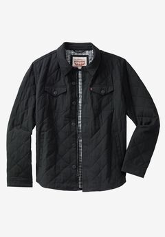 Quilted Shirt Jacket by Levi's®, BLACK, hi-res