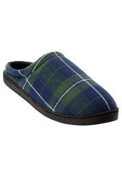 Fleece Clog Slippers, BALSAM PLAID, hi-res