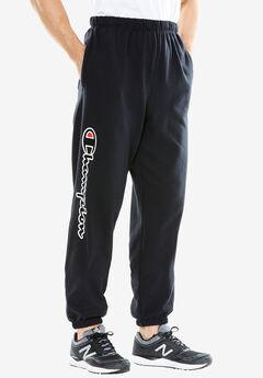 Fleece Logo Pants by Champion®, BLACK, hi-res