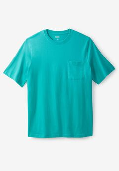 Shrink-Less™ Lightweight Pocket Crewneck Tee,