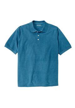 Piqué Polo Shirt, HEATHER ATLANTIC, hi-res