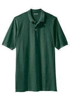 Longer-Length Short-Sleeve Piqué Polo , HUNTER, hi-res