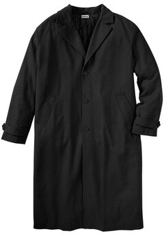 Wool-Blend Long Overcoat, BLACK, hi-res