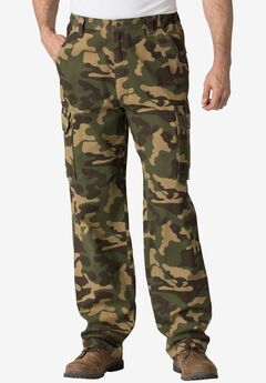 Renegade Cargo Pants with Side Elastic by Boulder Creek®, OLIVE CAMO