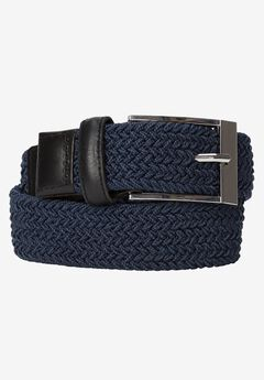 Elastic Braid Belt, NAVY, hi-res