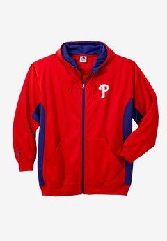 MLB® Logo Colorblock Zip Front Sweatshirt,