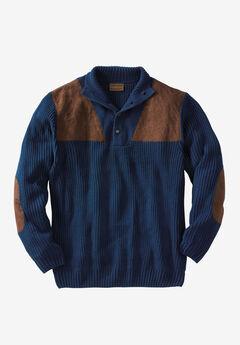 Mock Neck Shooter Sweater by Boulder Creek®,