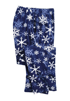Holiday Print Flannel Pajama Pants, SNOWFLAKE