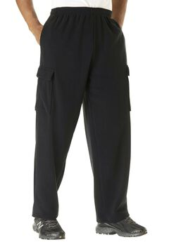 Explorer Fleece Cargo Pants, BLACK, hi-res