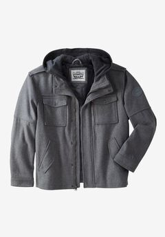 Hooded Trucker Jacket by Levis®, LIGHT GREY