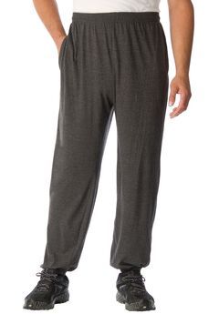 Lightweight Elastic Cuff Sweatpants, HEATHER CHARCOAL, hi-res