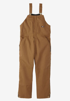 Dickies® Rigid Insulated Duck Bib Overall, DUCK BROWN, hi-res
