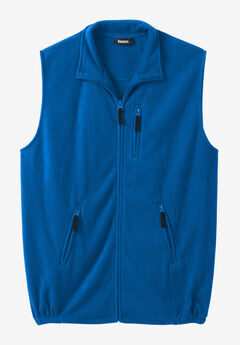 Explorer Fleece Zip Vest, ROYAL BLUE