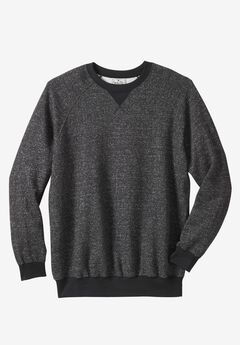 Fleece Crewneck Pullover by Liberty Blues®, BLACK MARL