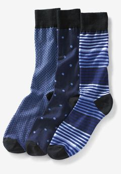 Printed Dress Sock 3-Pack,