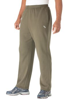 Wicking Fleece Open Bottom Pants by KS Sport™, OLIVE, hi-res