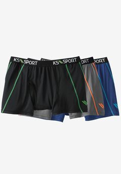 Power Cool Boxer Brief 3-Pack by KS Sport™, ASSORTED COLORS, hi-res