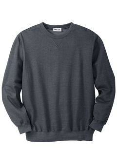 Fleece Crewneck Sweatshirt, HEATHER CHARCOAL, hi-res