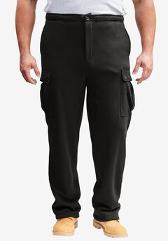Thermal-Lined Cargo Pants by Boulder Creek®, BLACK, hi-res