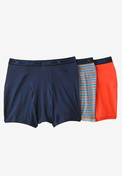FreshIQ® X-Temp® Comfort Cool ® Boxer Briefs 3-Pack by Hanes®, ORANGE NAVY MULTI, hi-res