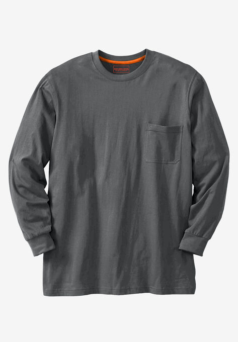 59f6fe0dbde Heavyweight Long-Sleeve Pocket Crewneck Tee by Boulder Creek®