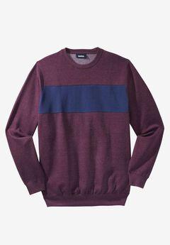 Colorblock Stripe Fleece Sweatshirt, , hi-res