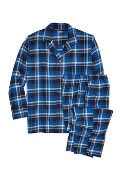 Plaid Flannel Pajama Set, TWILIGHT PLAID, hi-res