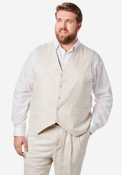 Linen Blend 5 Button Suit Vest by KS Island™,