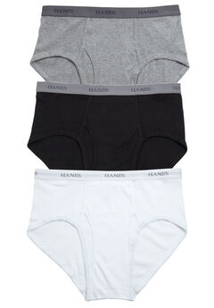 Hanes® Brief 3-Pack, BLACK WHITE GREY, hi-res