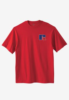 Chest Logo Tee by Russell Athletic®, RED, hi-res