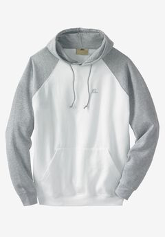 Raglan Pullover Hoodie by Russell Athletic®, WHITE HEATHER, hi-res
