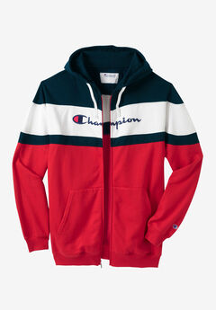 Color Block Full-Zip Hoodie by Champion®,