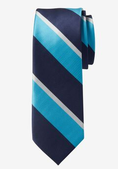 Extra Long Repp Stripe Tie, LIGHT TEAL STRIPE, hi-res