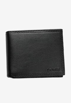 Leather Slimfold Wallet by Levi's®, BLACK, hi-res