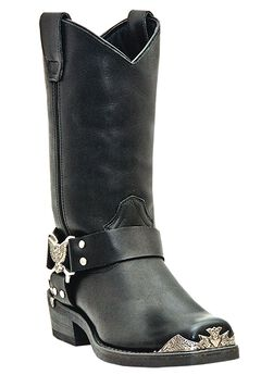 Dingo 12' Leather Eagle Harness Strap Boots,