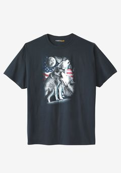 July 4th Graphic Tee , AMERICAN WOLVES, hi-res