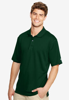 Hanes® Double Dry Ultimate Polo, ATHLETIC DARK GREEN, hi-res