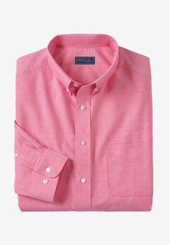 Wrinkle-Resistant Oxford Dress Shirt by KS Signature, RASPBERRY