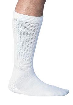 Mega Stretch Wicking Socks, WHITE