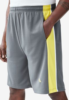 Power Wicking Shorts by KS Sport™, STEEL NEON YELLOW, hi-res