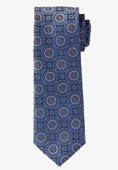 Extra Long Medallion Tie , BLUE MEDALLION, hi-res