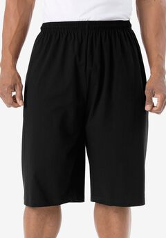 Lightweight Extra Long Shorts, BLACK, hi-res