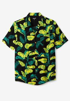 KS Island™ Tropical Camp Shirt , YELLOW LEAF