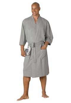 cotton jersey robe