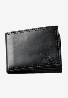 Slim Fold Wallet by Dockers®, BLACK, hi-res
