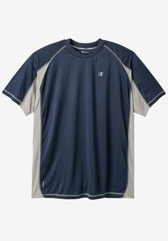 Colorblock Vapor® Performance Tee by Champion®, NAVY, hi-res