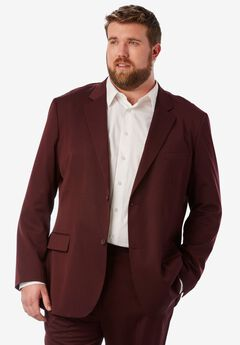 Easy Movement® Two-Button Jacket by KS Signature, BURGUNDY