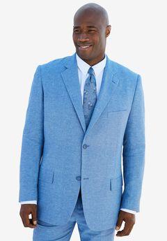 Linen Blend Two-Button Suit Jacket by KS Island™, LIGHT BLUE, hi-res