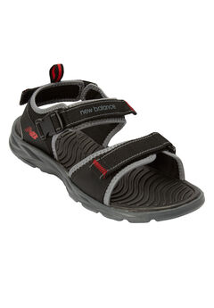2-Strap Velcro Sandal by New Balance®, BLACK GREY, hi-res